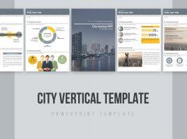 도시 비즈니스 세로형 파워포인트 템플릿