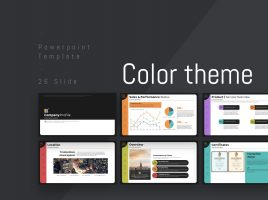 Color Theme PowerPoint Template Strategy