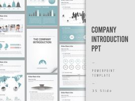 Company Introduction Presentation Vertical