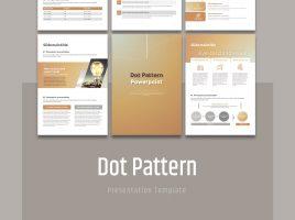 Dot Pattern PowerPoint Template Vertical