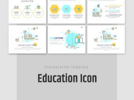 Education Icon PPT Template