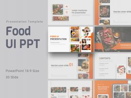 Food UI PPT Wide
