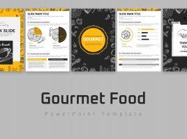 Gourmet Food PowerPoint Vertical