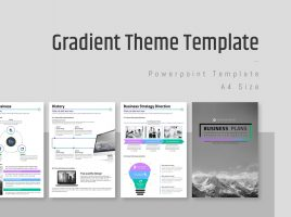 Gradient Theme PowerPoint Strategy Vertical