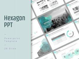 Hexagon PowerPoint Strategy Template