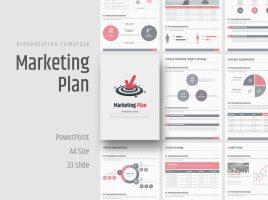 목표를 향한 마케팅 기획서 세로형 템플릿