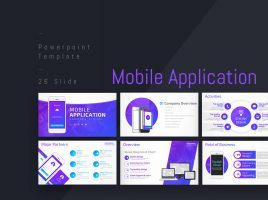 Mobile Application Company Profile PPT Strategy