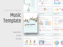 Music PowerPoint Vertical Template