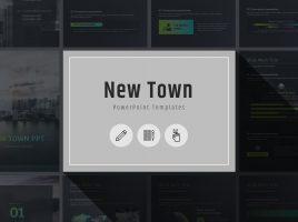 New Town PPT Template Vertical