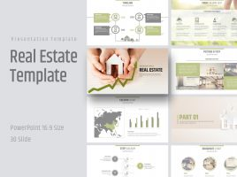 Real Estate PowerPoint Template Wide