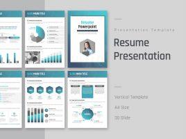 Resume PowerPoint Template Vertical