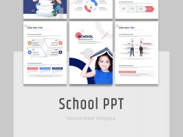 School PPT Template Vertical