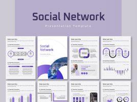Social Network PPT Template Vertical