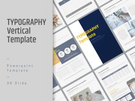 Typography PPT Template Vertical