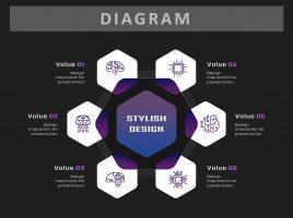 Hexagon Diverging Diagram6