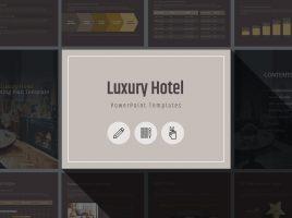 고급 호텔 세로형 마케팅 기획서 템플릿
