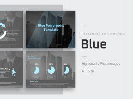 블루 파워포인트 템플릿