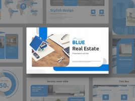 Blue Real Estate PPT Wide