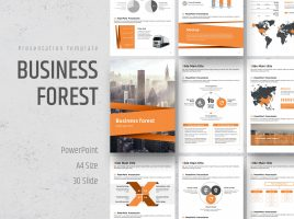Business Powerpoint Template Vertical
