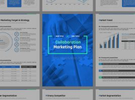 Collaboration Marketing Plan Strategy Vertical