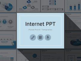 블루 인터넷 피피티 템플릿