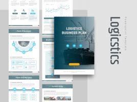 Logicstics PPT Template Strategy Vertical