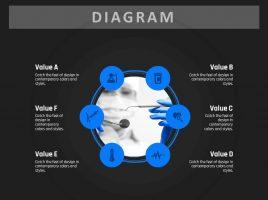 Circular Diverging Diagram 13