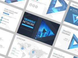 삼각형 네트워크 와이드 피피티