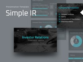 Simple IR Presentation Template