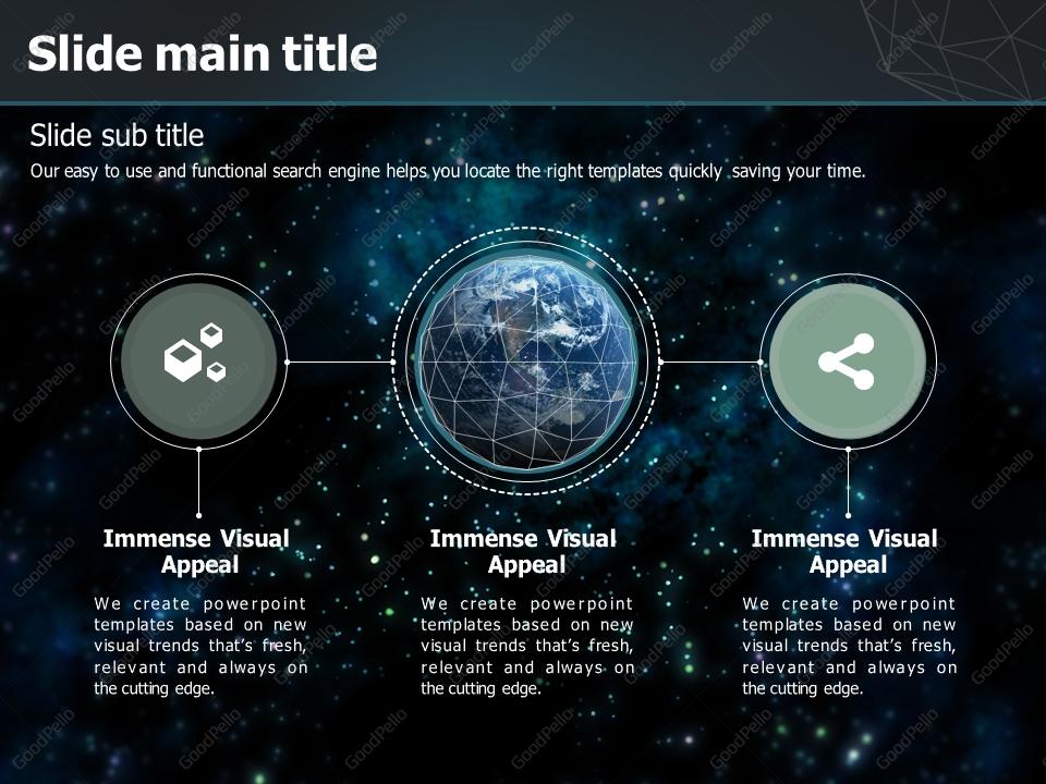 global network powerpoint template | goodpello, Modern powerpoint