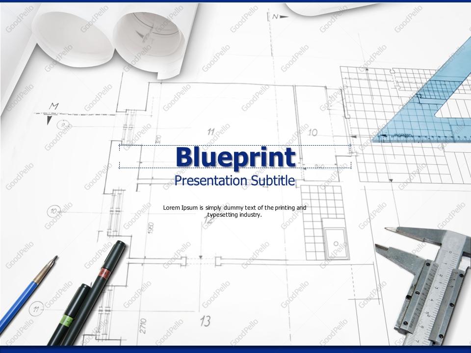Blueprint powerpoint template goodpello blueprint powerpoint template malvernweather Gallery