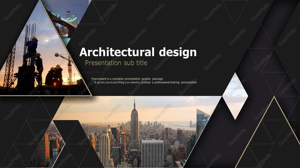 Architecture Powerpoint Template Wide Goodpello