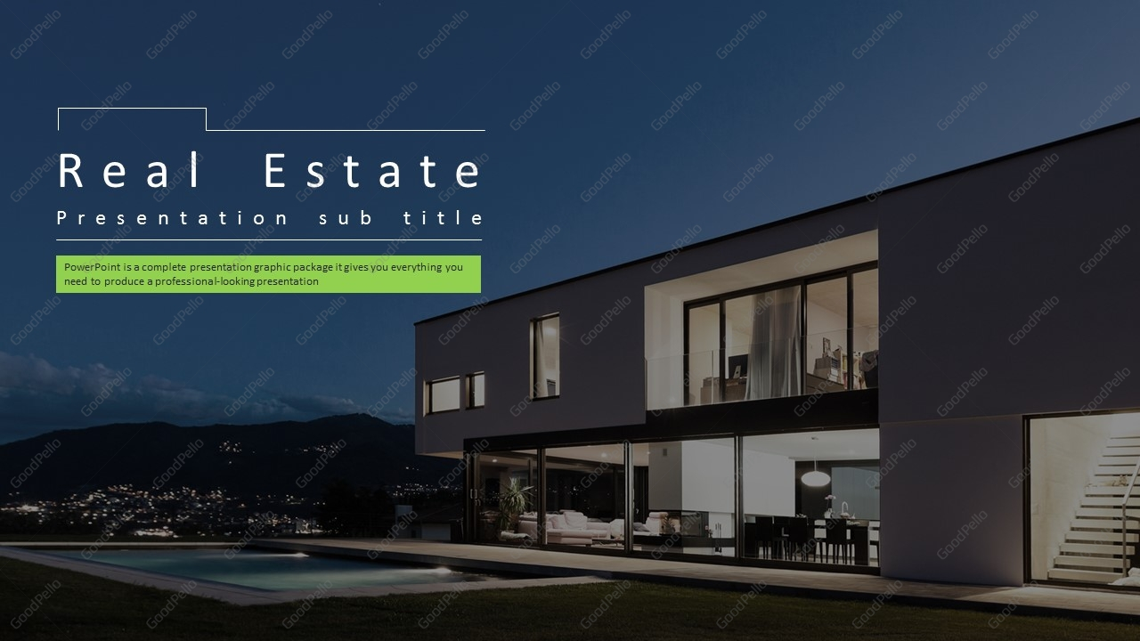 real estate ppt template wide goodpello