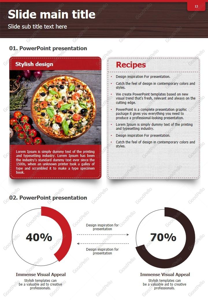 recipe vertical design template goodpello
