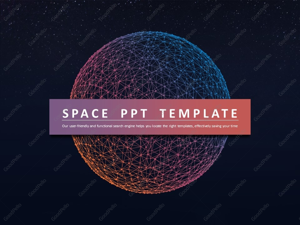 space ppt template | goodpello, Powerpoint templates