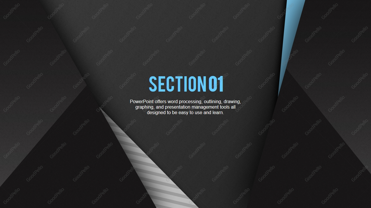 modern black powerpoint template wide  u2013 goodpello