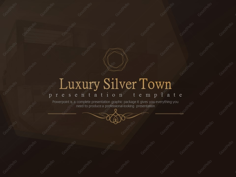 luxury silver town powerpoint template goodpello. Black Bedroom Furniture Sets. Home Design Ideas