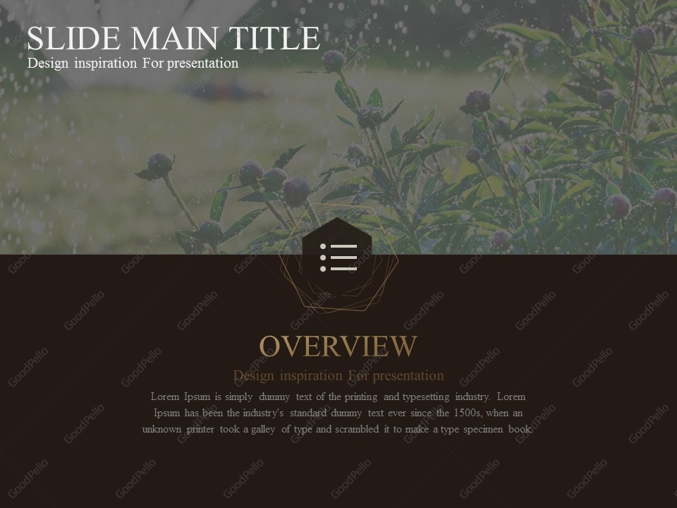 Luxury Silver Town PowerPoint Template Goodpello - Luxury how to create table of contents in powerpoint design