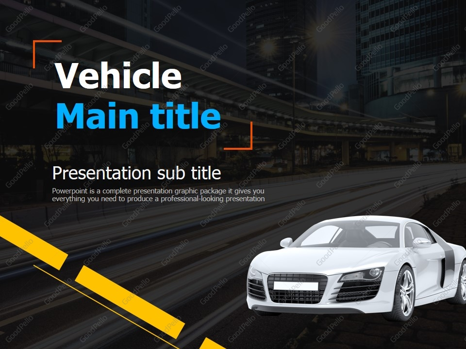 car ppt template | goodpello, Modern powerpoint