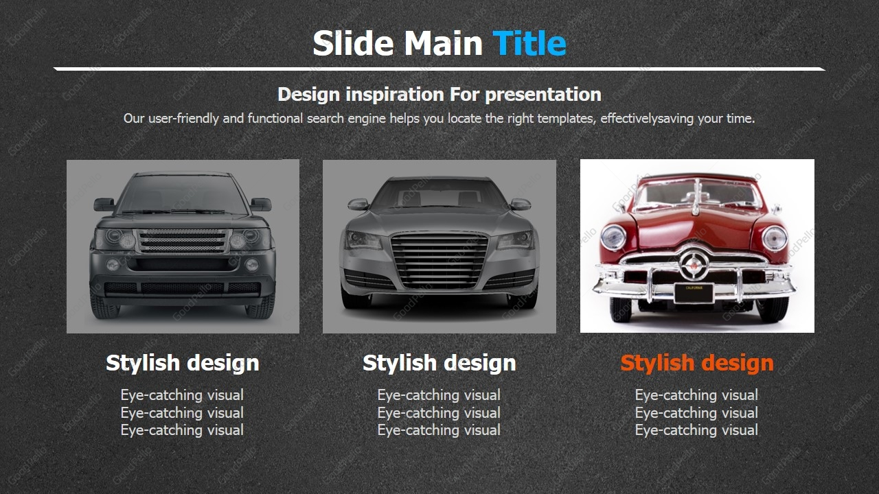 car ppt template wide | goodpello, Modern powerpoint
