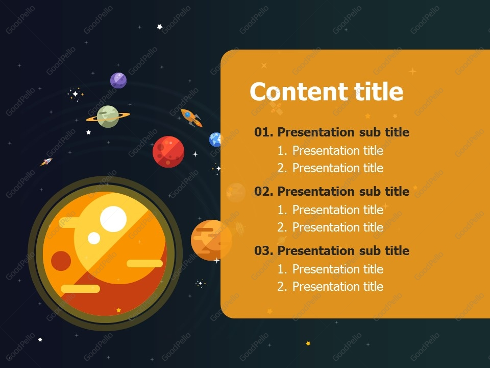 rocket powerpoint template | goodpello, Presentation templates