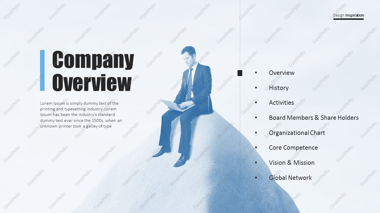 Simple Company Profile PPT Template | Goodpello
