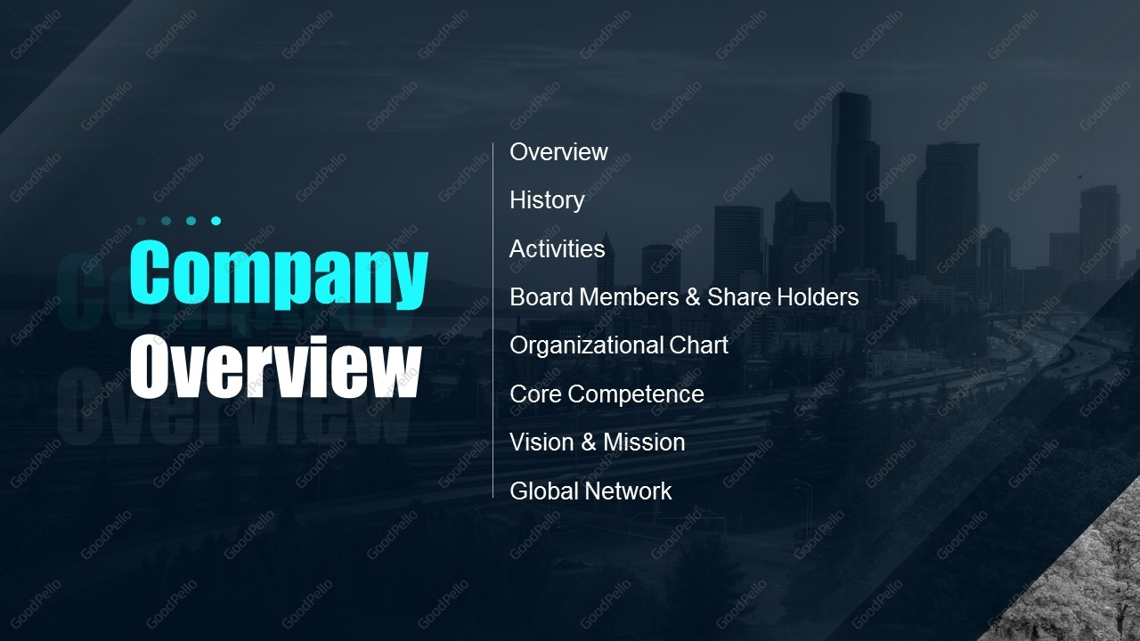 Blue Company Profile PPT Template | Goodpello