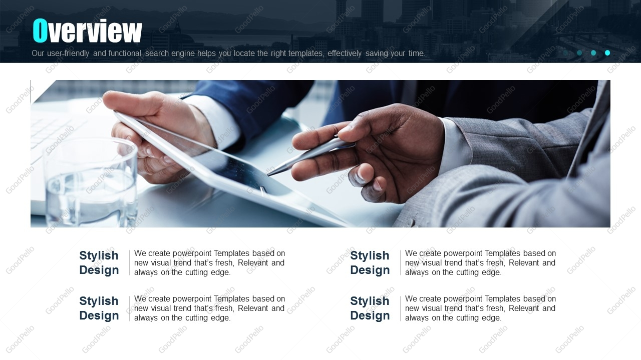 Blue Company Profile PPT Template Goodpello - Luxury how to create table of contents in powerpoint design