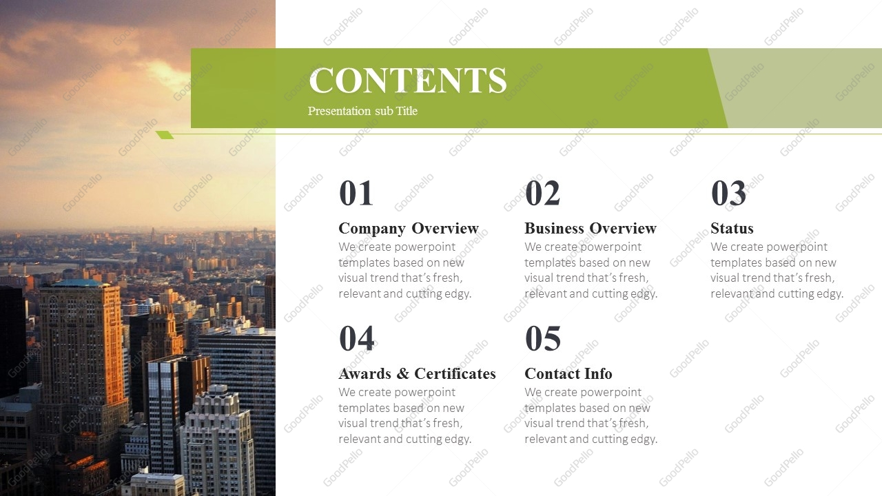 city company profile ppt template  u2013 goodpello