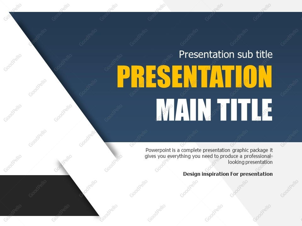 free simple powerpoint template | goodpello, Modern powerpoint