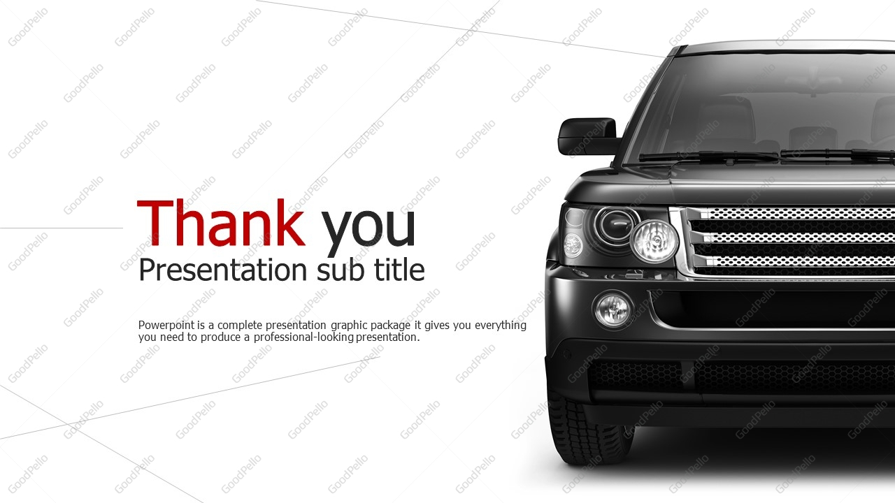 car powerpoint template wide goodpello