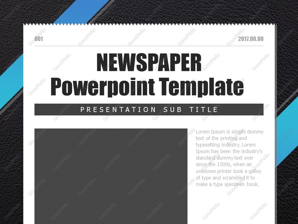 Newspaper Powerpoint Template  Goodpello