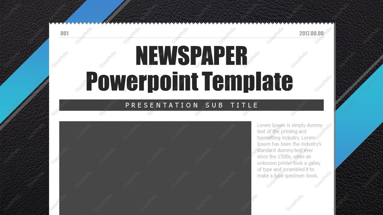 newspaper powerpoint template wide | goodpello, Ub Presentation Template, Presentation templates