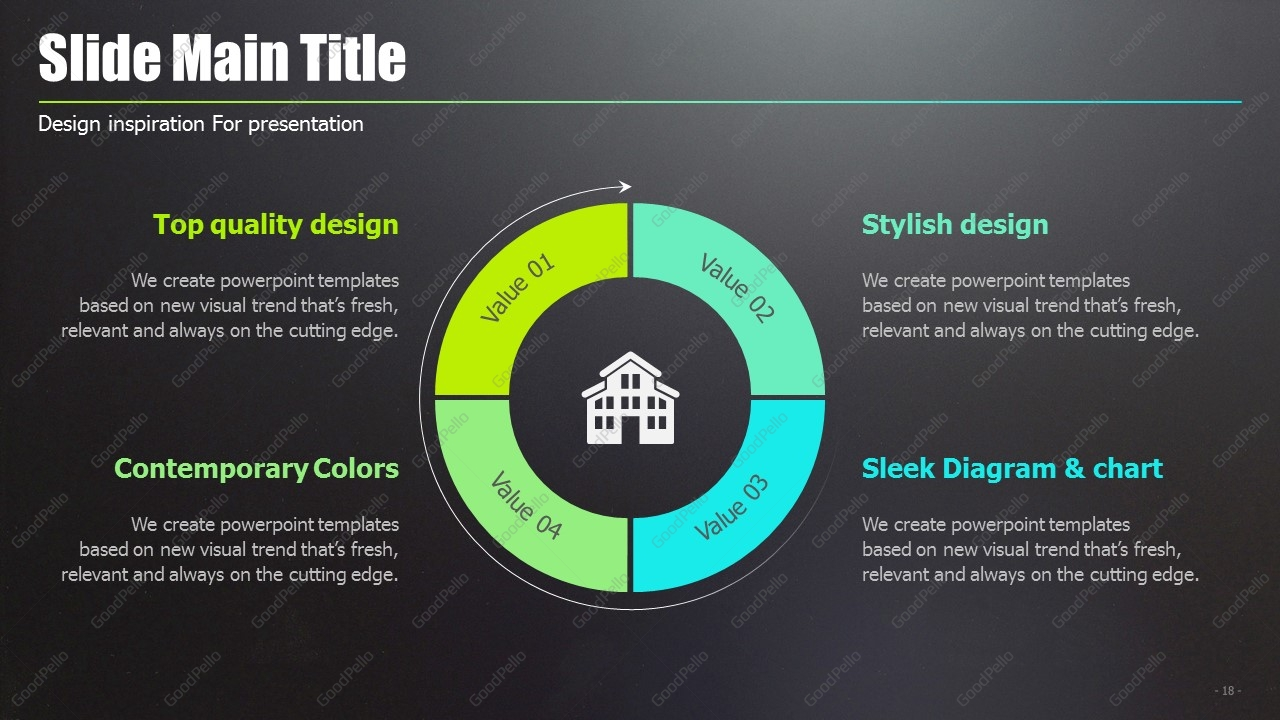 New Town PPT Template Wide | Goodpello